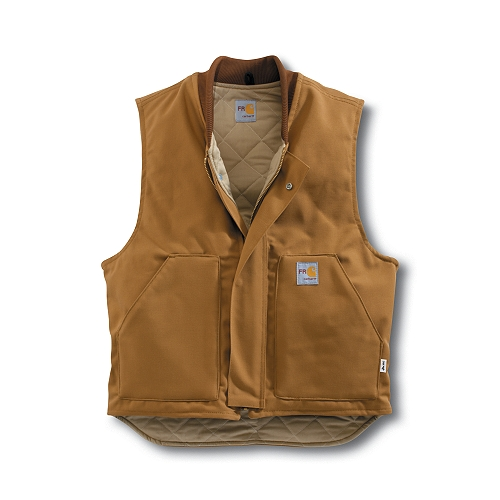 Carhartt Style #: FRV036 Men�s Flame-Resistant Duck Vest/Quilt Lined FRV036